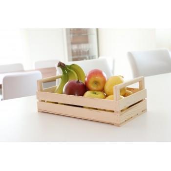 Holzkiste, praktisch als Obstbehälter