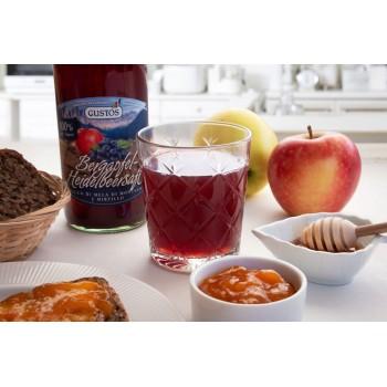 100 % natürlicher Apfel-Heidelbeersaft