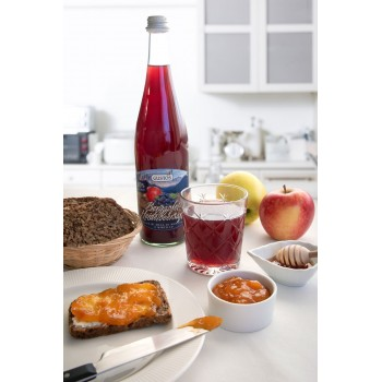Apfel-Heidelbeersaft, reich an Antioxidantien