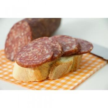 Rehsalami mit Brot